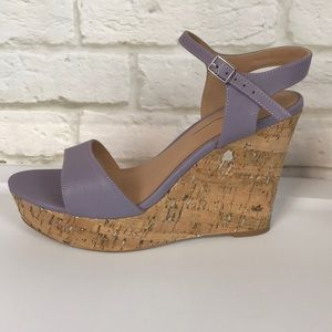 🆕 Anthropologie Lilac Wedge High Heels